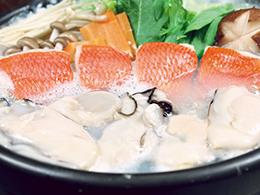 金目鯛・カキ鍋